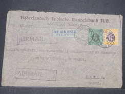 HONG - KONG  - Enveloppe Commerciale Pour Paris En 1934 Par Avion ( étiquette ) , Affranchissement Plaisant  - L 9662 - Hong Kong (...-1997)