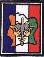 Forces Spéciales Françaises, Patches, OPEX FORCES FRANCAISES En CÔTE D'IVOIRE, Velcro, 8 X 6 Cm - Ecussons Tissu