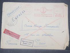 ALLEMAGNE - Enveloppe De Prisonnier De Berndorf Pour Paris En Exprès , Affranchissement Mécanique - L 9665 - Allemagne