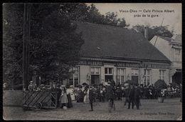 MORTSEL - OUDE GOD - VIEUX DIEU ** CAFE PRINCE ALBERT PRES DE LA GARE ** Café Flor Voets  - Zeldzame !! Passage à Niveau - Mortsel