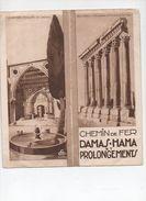 Syrie : Dépliant  DAMAS-HAMA Et Prolongements (PPP5747) - Dépliants Touristiques