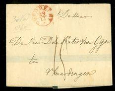 VOORLOPER BRIEFOMSLAG Uit 1840 Gelopen Van DORDRECHT Naar VLAARDINGEN  (10.647u) - Nederland