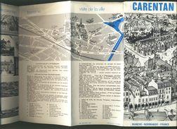 Dépliant Touristique Carentan - 21 X 9 Cm - 12 Pages - Reiseprospekte
