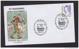 6..- 053 ITALY ITALIA 2013. SPECIAL POSTMARK. SCOUTS GROUP 1 OF BASSANO DEL GRAPPA - Movimiento Scout