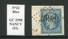 FRANCE- Y&T N°22- GC 2598 (NANCY 52) Sur Fragment - 1862 Napoleon III