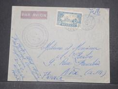 FRANCE / SÉNÉGAL - Enveloppe En FM Par Avion De Dakar Pour Nice - L 9677 - Sénégal (1887-1944)