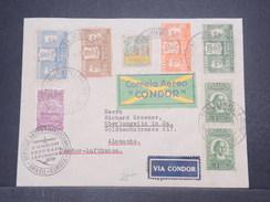 BRÉSIL - Enveloppe Par Zeppelin Pour L 'Allemagne En 1935 , Affranchissement Plaisant - L 9684 - Brésil
