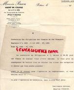 86 - POITIERS- CONVERSION OBLIGATIONS CHEMINS DE FER FRANCAIS-MAURICE PERSON-AGENT DE CHANGE-14 BD. VERDUN- 1935 BANQUE - Bank & Insurance