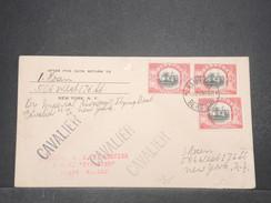 """BERMUDES - Enveloppe 1 Er Vol De Hamilton  Par """" Cavalier """" Pour New York En 1937 , Affranchissement Plaisant - L 9685 - Bermudes"""