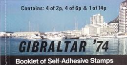 Gibraltar, 1974, 310 B/12 B Booklet MH 1, 100 Jahre Weltpostverein (UPU).  MNH ** - Gibraltar