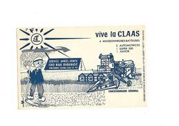 Buvard  Vive La Claas Moisonneuses-batteuses Automotrices - Agriculture