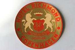Publicité Hôtel Richmond Denmark Danemark Copenhagen Copenhague Licorne - Werbung
