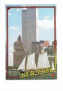 Cpsm - New York - World Trade Center - 1989 - Tours Bateau Voilier - Pomme Apple - Cafés, Hôtels & Restaurants