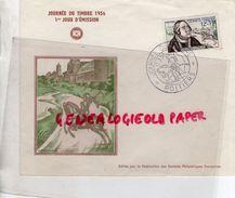 86 - POITIERS-MARCOPHILIE JOURNEE DU TIMBRE 1956 -FRANCOIS DE TASSIS 12F + 3F - Marcophilie (Lettres)