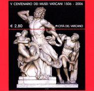 Nuovo - MNH - VATICANO - 2006 - 5º Centenario Dei Musei Vaticani - BF - Statua Di Marmo Di  Laocoonte - 2,80 - Blocs & Feuillets