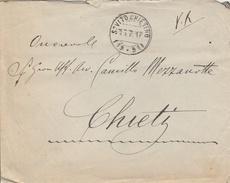 S. Vito Chietino. 1917. Annullo Frazionario ( 19 - 91 ) Su Lettera Affrancata Al Verso. BELLA. - Poststempel