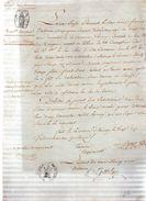 Sieur Louis-François DEVISME,compagnon Serrurier,commune D'Hornoy.Laisser Passer.28 Vendemiaire An Quatorze. - Documents Historiques