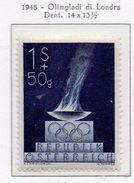 PIA  -  AUSTRIA - 1948 : Giochi Olimpici Di Londra - (Yv  696 ) - 1945-.... 2ª República