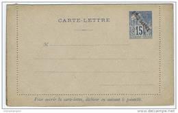 Diego Suarez Carte Lettre NGK Type Nr K1, Not Used, 1892 - Diégo-Suarez (1890-1898)