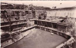 Barrage De Genissiat Vue Aval Usine Et Canal De Fuite - Génissiat