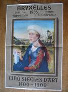 Affiche Originale EXPOSITION UNIVERSELLE BRUXELLES 1935 - CINQ SIECLES D'ART 1400-1900 - Affiches