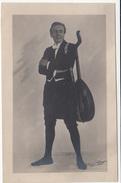 Man With Lute Old Unused Postcard 170801 - Musique Et Musiciens