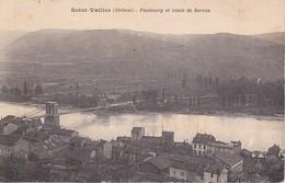 CPA (26) SAINT-VALLIER.  Faubourg Et Route De Sarras Et Le Pont Suspendu. ..G273 - Autres Communes