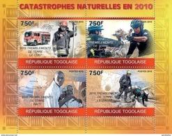 TOGO 2010 SHEET NATURAL DISASTERS DESASTRES NATURALES CATASTROPHES NATURELLES Tg10215a - Togo (1960-...)