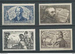 FRANCE 1942 . N°s 541 , 542 , 543 Et 544 . Neufs ** (MNH) - France