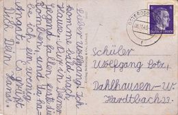 GERMANY 1943 USED POST CARD HITLER 6pf USED/GOOD - Allemagne