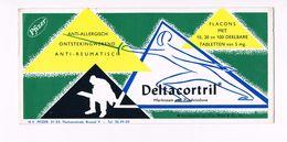 Buvard DELTACORTRIL - Pfizer - Brussel Vloeipapier Blotter - Produits Pharmaceutiques