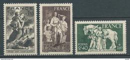 FRANCE 1943 . N°s 584 , 585 Et 586 . Neufs ** (MNH) - France