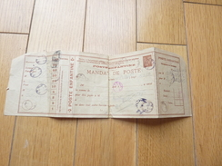 POSTE ENFANTINE MANDAT DE POSTE TIMBRE SEMEUSE TAMPON CACHET PETITE POSTE NATIONALE - Marcophilie (Lettres)