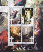 TONGA - 2017 - Pâques 2017, Peintures Religieuses De De Troy, Bloch, West Et Rembrandt - BF Neuf // Mnh - Tonga (1970-...)
