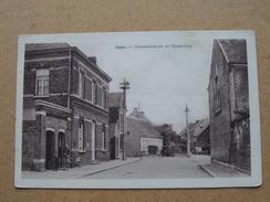 IMPE Gemeentehuis En Omgeving ( Aug. De Vriendt - Winkelier ) Anno 19?? ( Zie Foto Voor Details ) ! - Lede