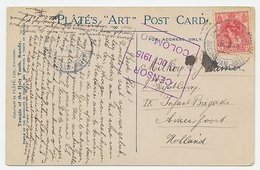 Postagent Amsterdam - Batavia 1915 : Ceylon - Amersfoort - Sin Clasificación