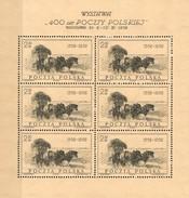 400 Jahre Post 1958 Polen 1072 KB ** 15€ Historische Kutsche Bloc Hb M/s Painting Philatelic S/s Sheetlet Bf Polska - Blocks & Sheetlets & Panes
