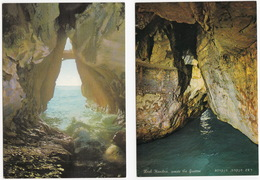 2 POSTCARDS Of ROSH HANIKRA , Grotto, View To The Sea & View To The Grottos -  (Israel) - Israël