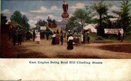 Advertising ~ CASE ~ Steam Engine Climbing Hill Stunt - Publicité