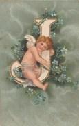 CPA  FANTAISIE GAUFREE  ALPHABET ANGELOT LETTRE J - Angels
