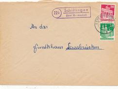 SCHILLINGEN über Hermeskeil  - 1951 ,  Landpoststempel , Postnebenstempel - Marcophilie - EMA (Empreintes Machines)