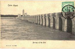 CPA N°4866 - CAIRO - BARRAGE OF THE NILE + JOLI TIMBRE - Cairo
