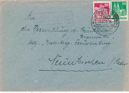 KOLLESLEUKEN über Saarburg  - 1951 ,  Landpoststempel , Postnebenstempel - [7] Federal Republic