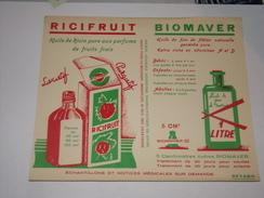 Buvard.Ricifruit.Huile De Ricin.Biomaver.Huile De Flétan. - Chemist's