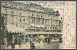 Karlsbad, Grand Hotel Pupp. Wunderschöne Handcolorierte Künstlerkarte, Gelaufen 1906 - República Checa