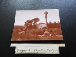 Photo Du Début Du XXème Siécle, Tregastel, Chapelle De Saint-Golgon - Trégastel