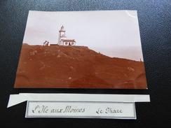 Photo Du Début Du XXème Siécle, L'ile Aux Moines, Le Phare - Perros-Guirec