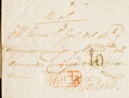 Murcia. Prefilatelia. SOBRE. 1827. CIEZA A MADRID. Marca Z / MRCIA (P.E.1) Edición 2004. MAGNIFICA. - Spain
