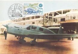 France Carte Maximum Du 28 Avril 1979 à Strasbourg Histoire De La Poste ( Avion Caudron - Simoun ) - 1970-79