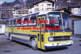 Reproduction D'une Photographie D'un Bus Mercedes Chamonix Bus à Courmayeur En 1972 - Reproductions